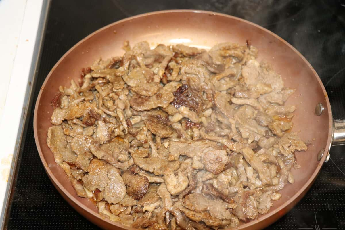 Dönerteller - Zubereitung Fleisch